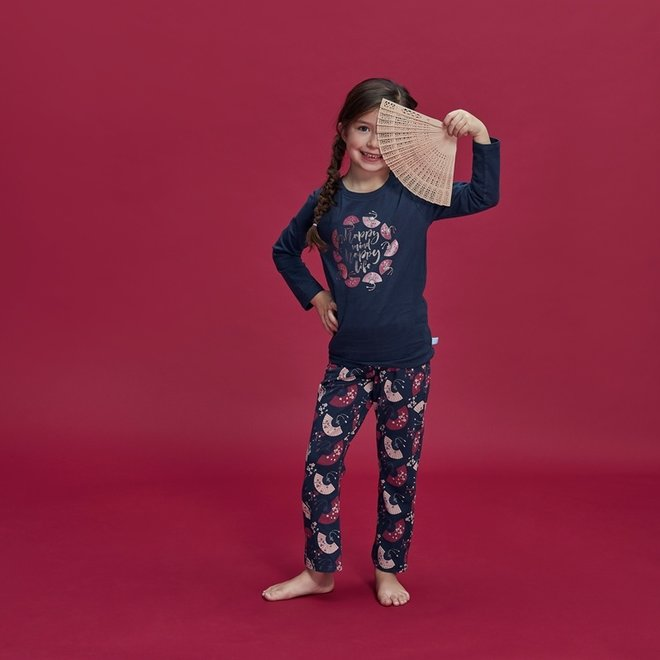 Girls' Pyjama Homewear Set Happy Life Fan