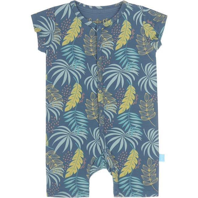 Charlie Choe Baby Girl Pyjamas Blue Palm Print