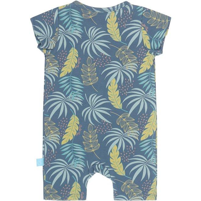 Charlie Choe Baby Mädchen Pyjamas blau Palme drucken