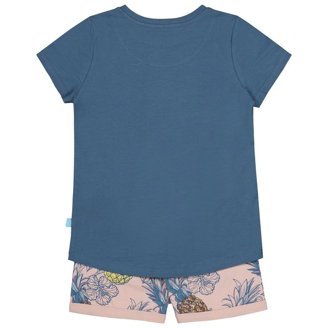 Charlie Choe Meisjes Pyjama Shortama Blauw Ananas