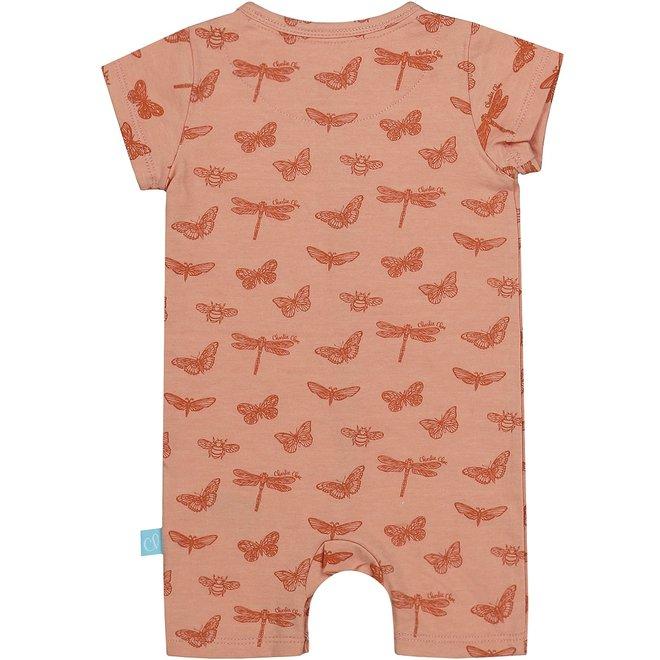 Charlie Choe Baby Mädchen Pyjamas rosa Schmetterling
