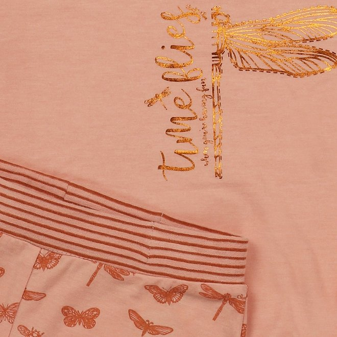 Charlie Choe Meisjes Pyjama Shortama Roze Vlinder