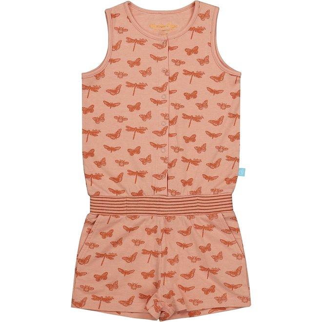Charlie Choe Mädchen Pyjamas Jumpsuit rosa Schmetterling