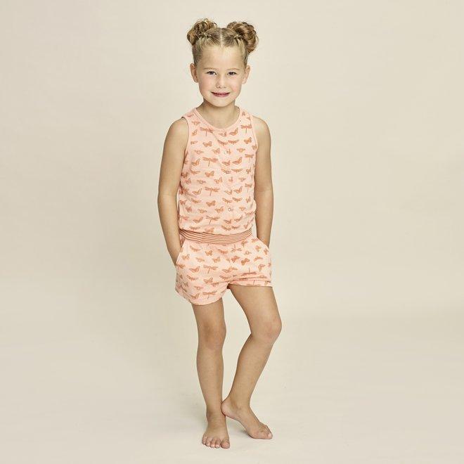 Charlie Choe Meisjes Pyjama Jumpsuit Roze Vlinder