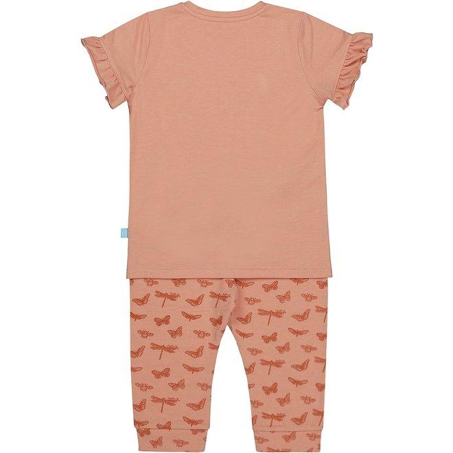 Charlie Choe Girls Pyjama Set Three Quarter Butterfly