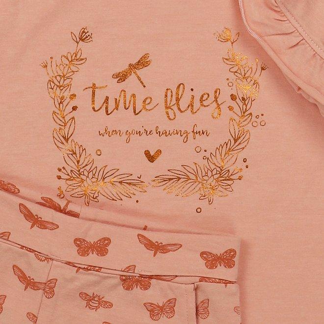 Charlie Choe Mädchen Pyjama Set Dreiviertel Schmetterling