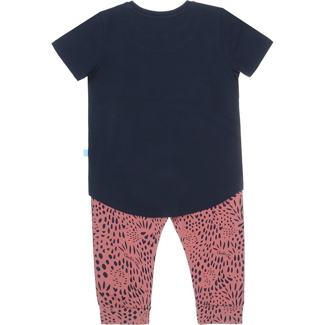 Charlie Choe Girl Pyjama Set Three Quarter Blue Pink Panther
