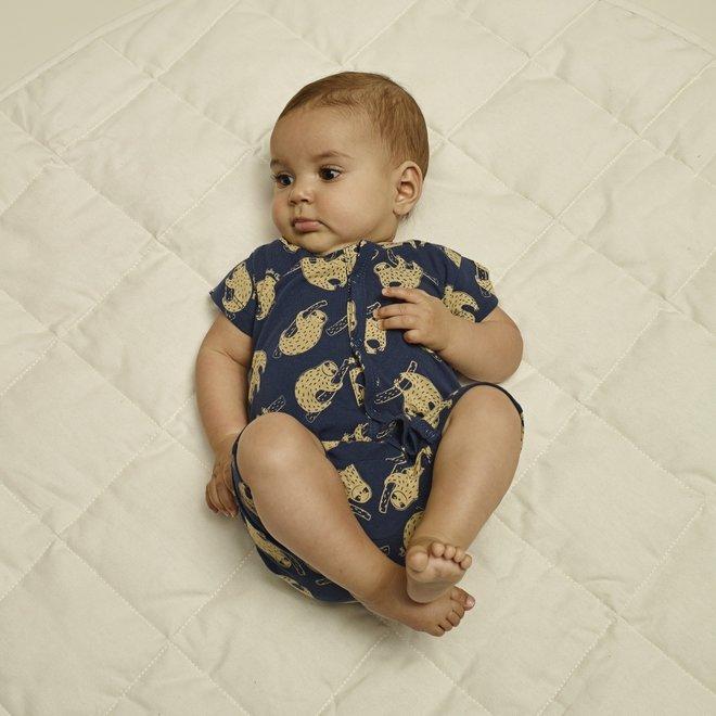 Charlie Choe Baby kurze Pyjamas blau Faultier