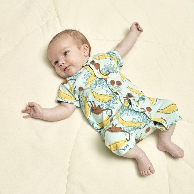 Charlie Choe Baby Boy Pyjamas Aqua Monkeys