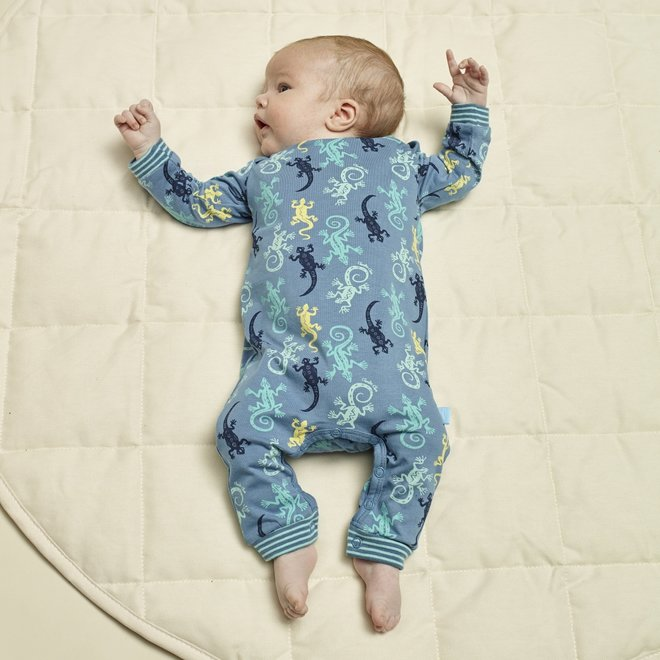 Charlie Choe Baby Jongens Pyjama Blauw Hagedis