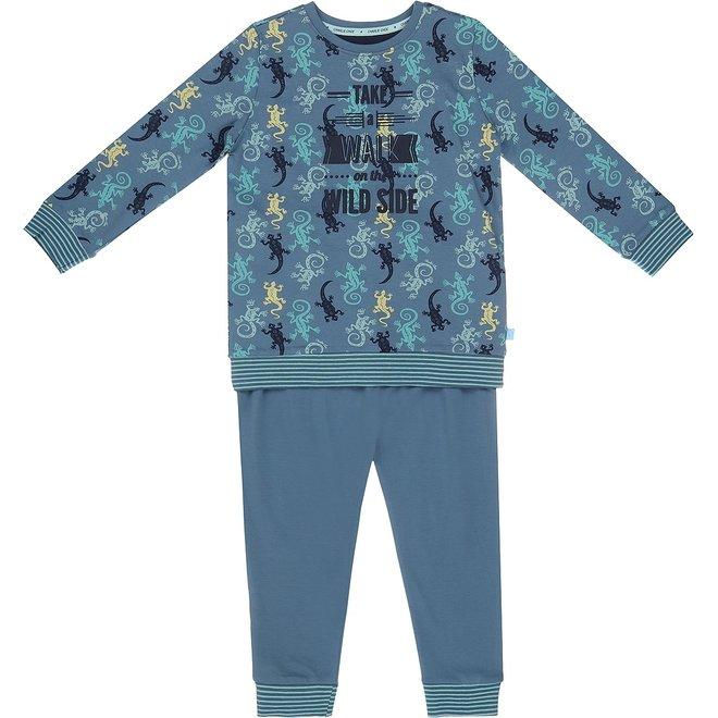 Charlie Choe Boys Pyjama Short Set Blue Lizard