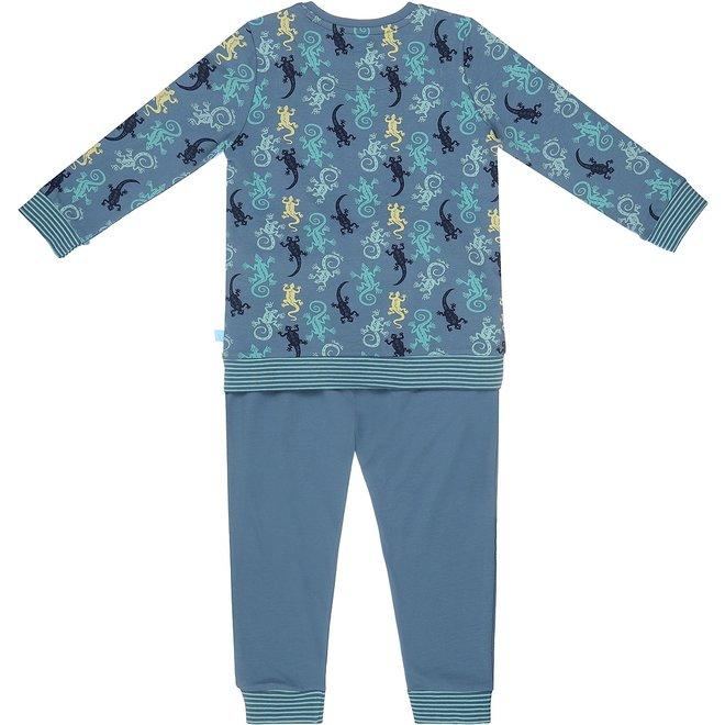 Charlie Choe Jungen Pyjama Short Set blau Eidechse