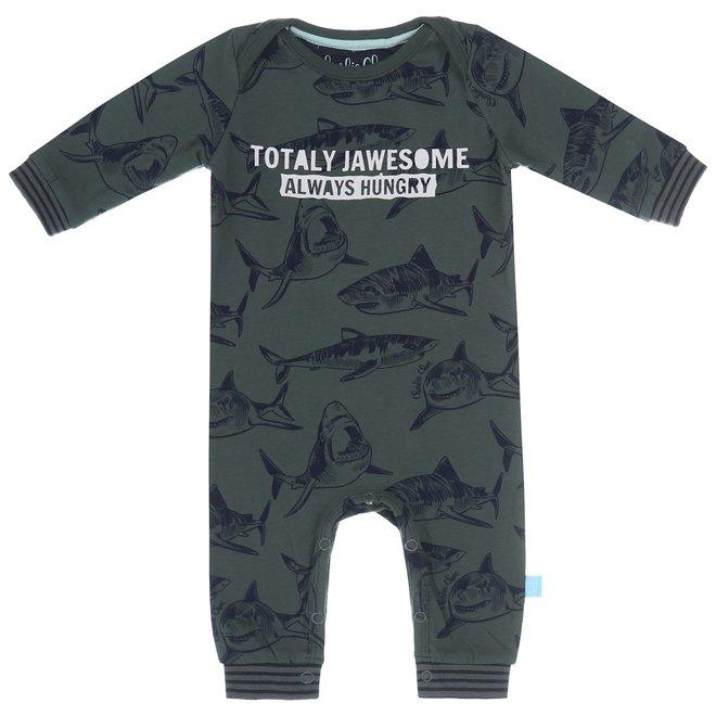 Charlie Choe Baby Jongens Pyjama Groen Haai