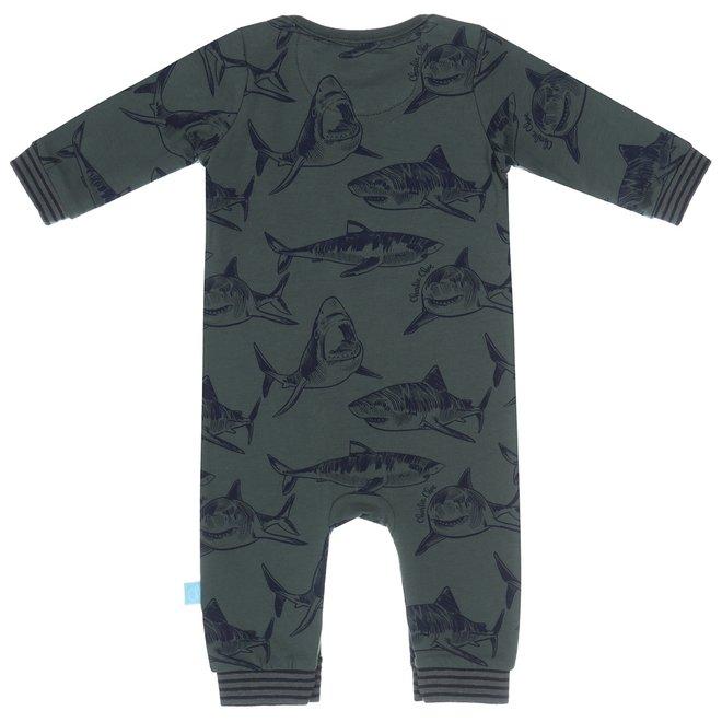 Charlie Choe Baby Junge Pyjamas Grüner Hai