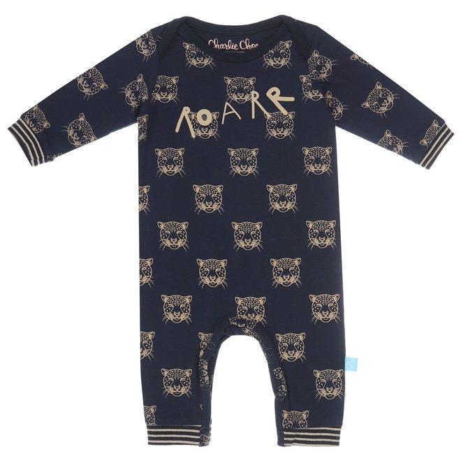 Charlie Choe Baby Pyjamas Blue Panther