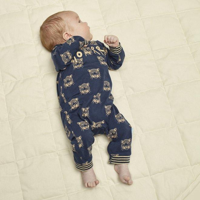 Charlie Choe Baby Pyjama Blauw Panter