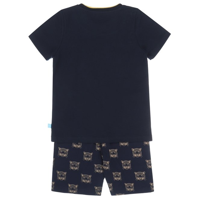 Charlie Choe Jongens Pyjama Shortama (long) Blauw Panter