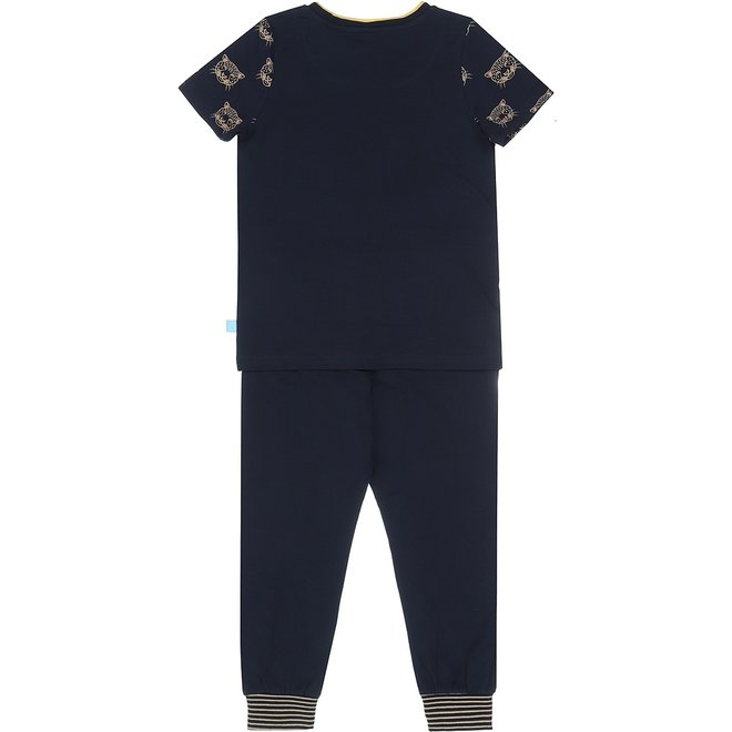 Charlie Choe Boys Pyjama Short Set Blue Panther
