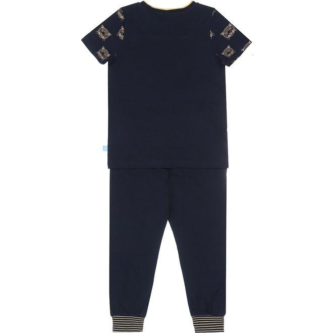 Charlie Choe Jungen Pyjama Set blau Panther