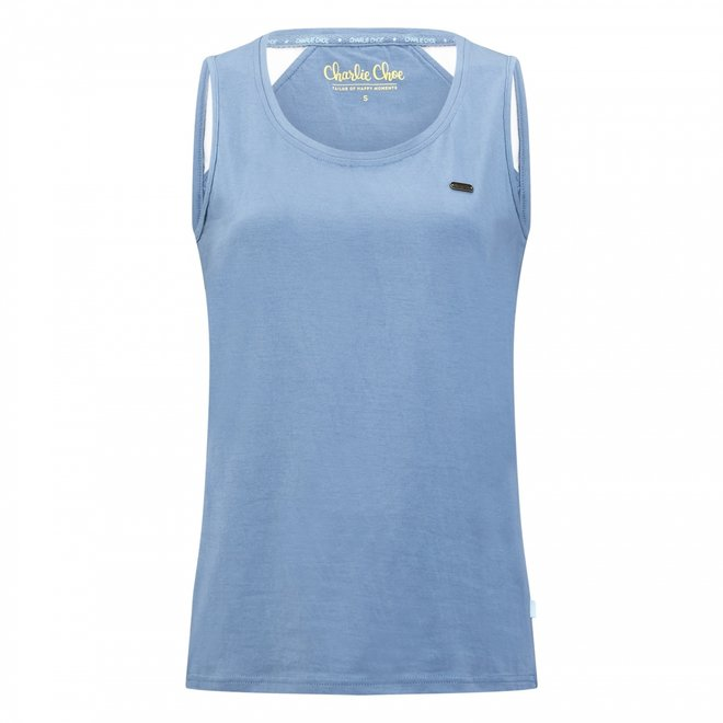 Charlie Choe Dames Pyjama Tanktop Blauw