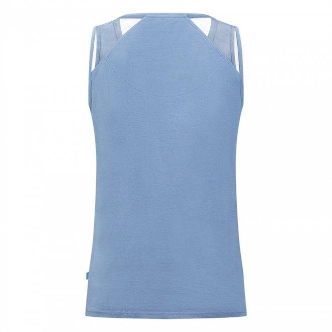 Charlie Choe Damen Pyjama Tanktop Blau