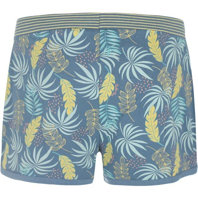 Charlie Choe Ladies Pyjama Short Blue Palm