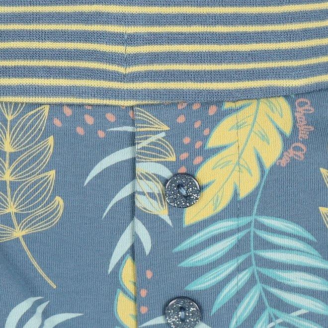Charlie Choe Damen Pyjamas Kurz Blau Palm