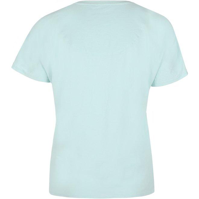 Charlie Choe Damen Pyjama T-shirt Aqua