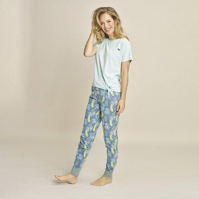 Charlie Choe Dames Pyjama T-shirt Aqua