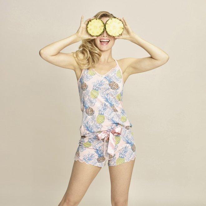 Charlie Choe Dames Shortama Roze Ananas