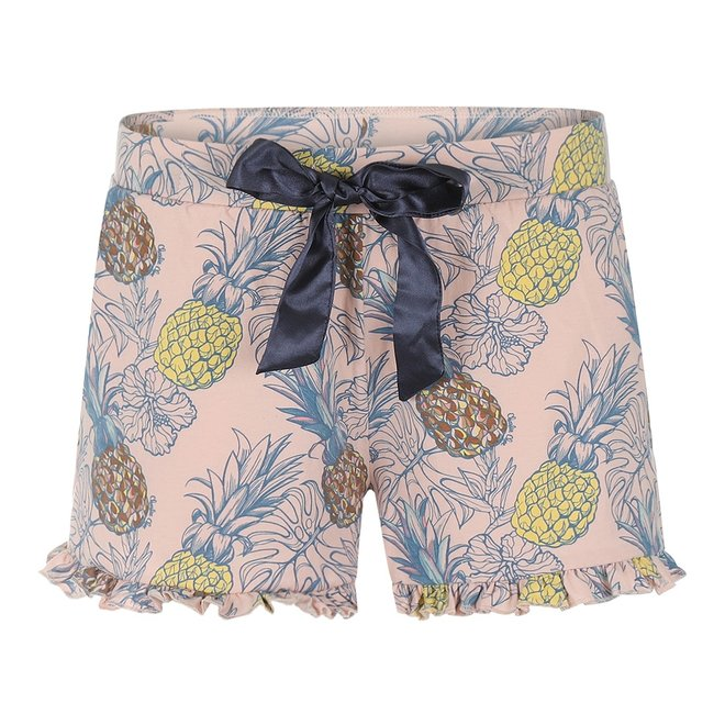 Charlie Choe Dames Pyjama Short Roze Ananas
