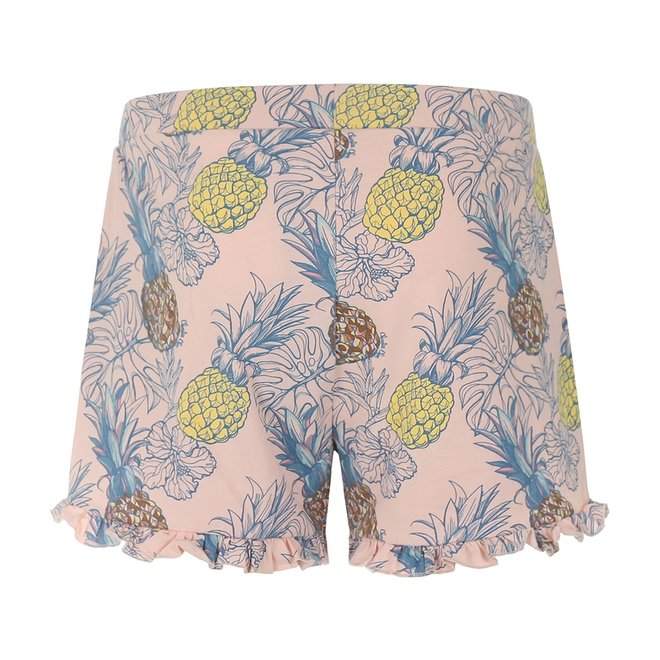 Charlie Choe Damen Pyjama kurz rosa Ananas