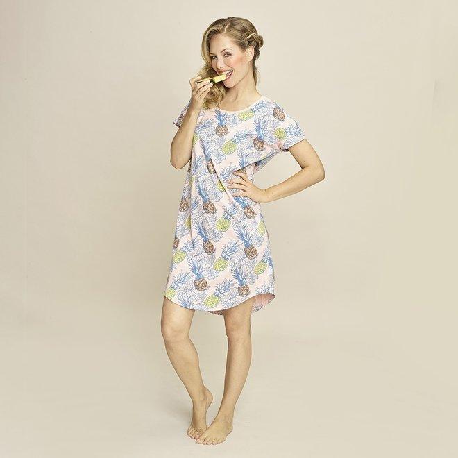 Charlie Choe Damen Nachthemd rosa Ananas