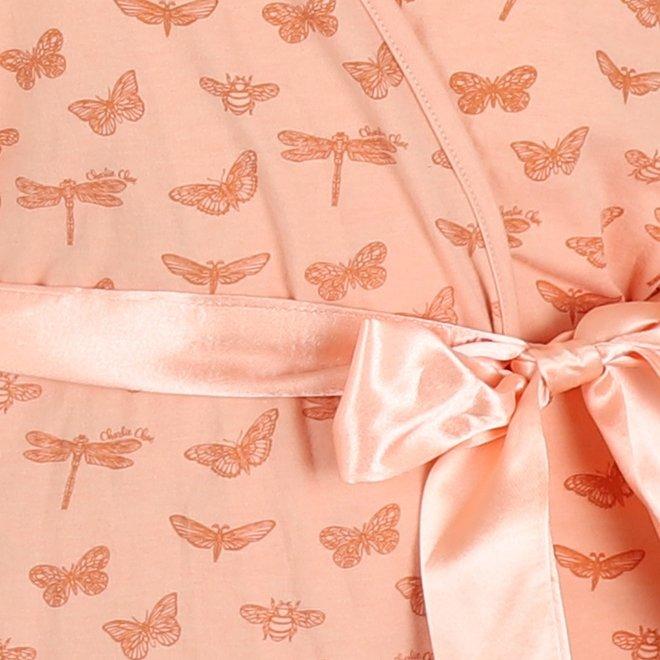 Charlie Choe Ladies Bathrobe Pink Butterfly
