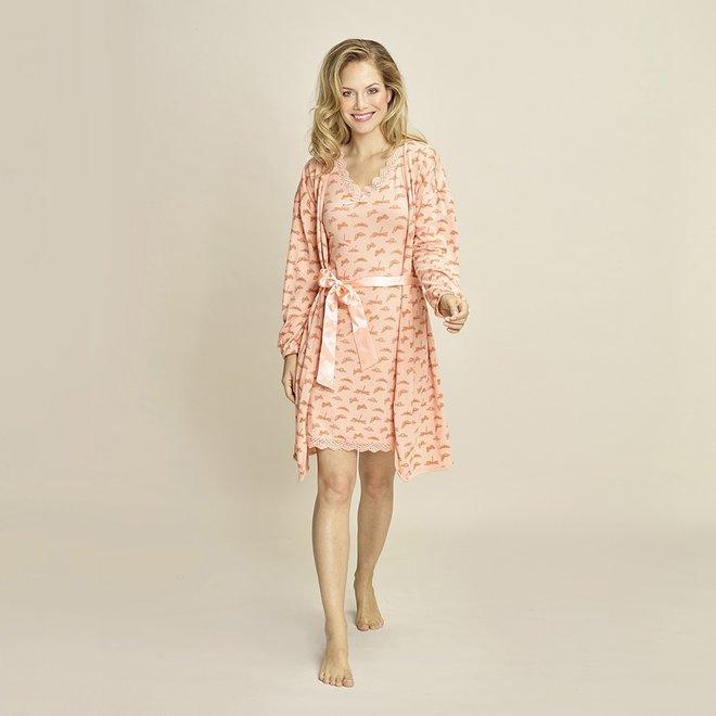 Charlie Choe Damen Bademantel rosa Schmetterling
