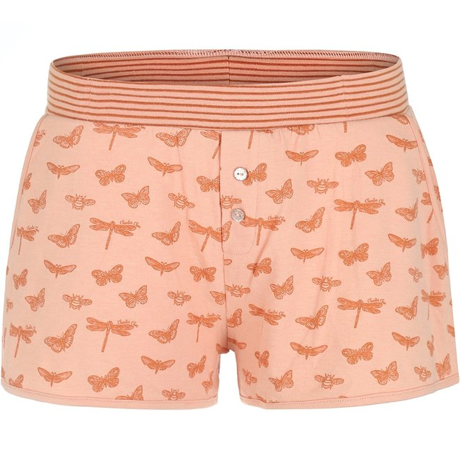 Charlie Choe Dames Pyjama Short Roze Vlinder