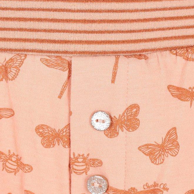 Charlie Choe Ladies Pyjama Short Pink Butterfly