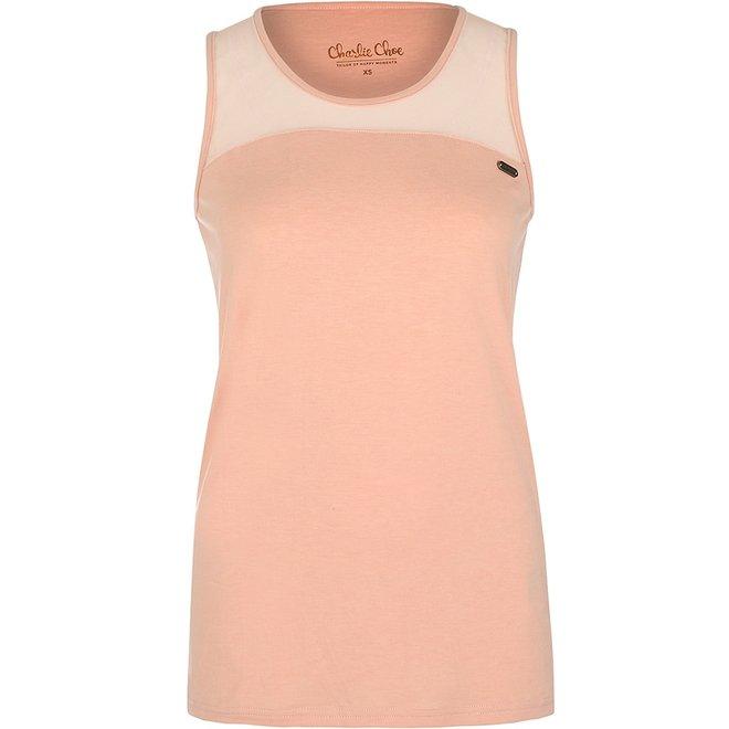 Charlie Choe Ladies Pyjama Tanktop Pink