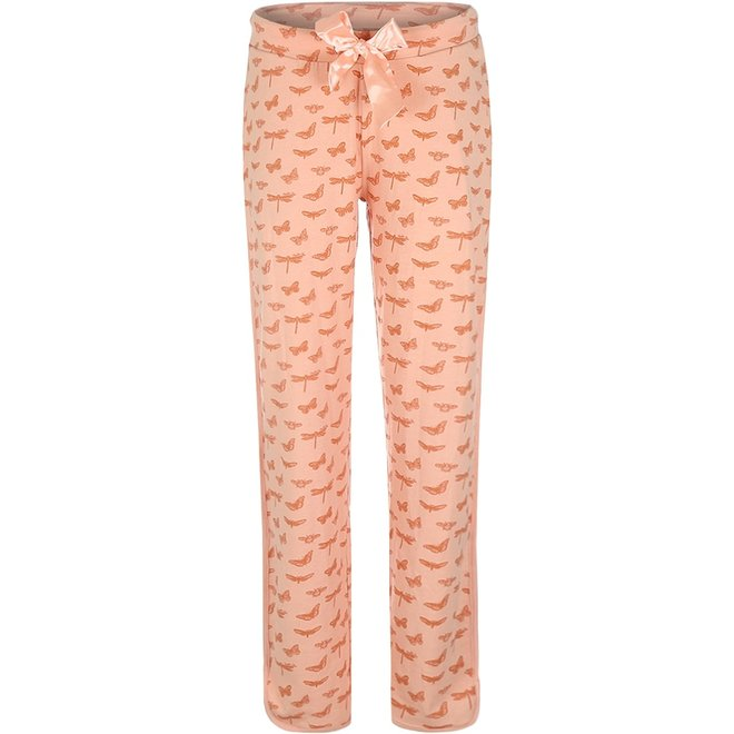 Charlie Choe Dames Pyjamabroek Roze Vlinder