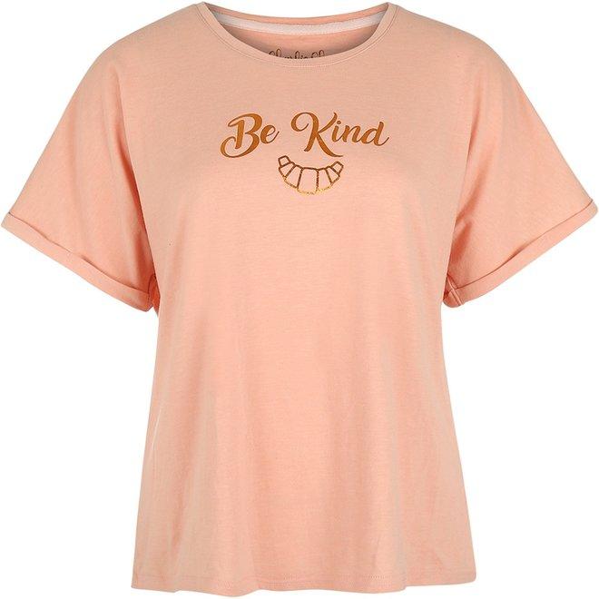Charlie Choe Damen Pyjama-T-Shirt rosa