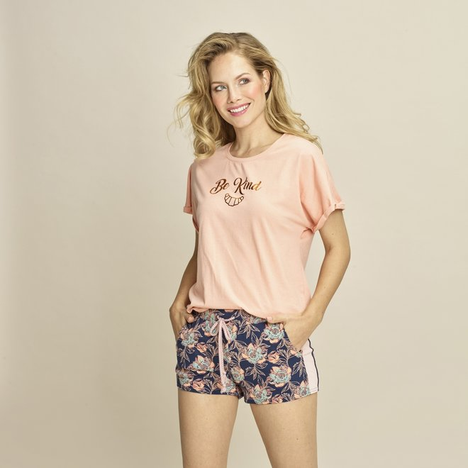 Charlie Choe Dames Pyjama T-shirt Roze