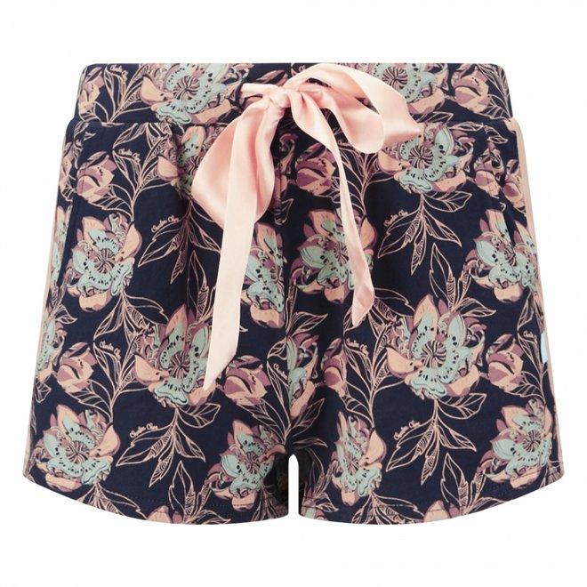 Charlie Choe Ladies Pyjama Short Blue Floral