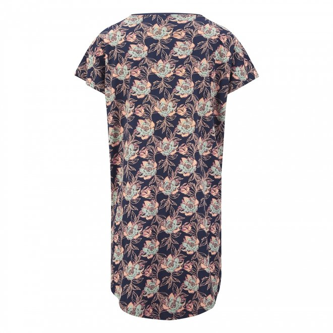 Charlie Choe Damen Nachthemd Blaue Blume Bigshirt