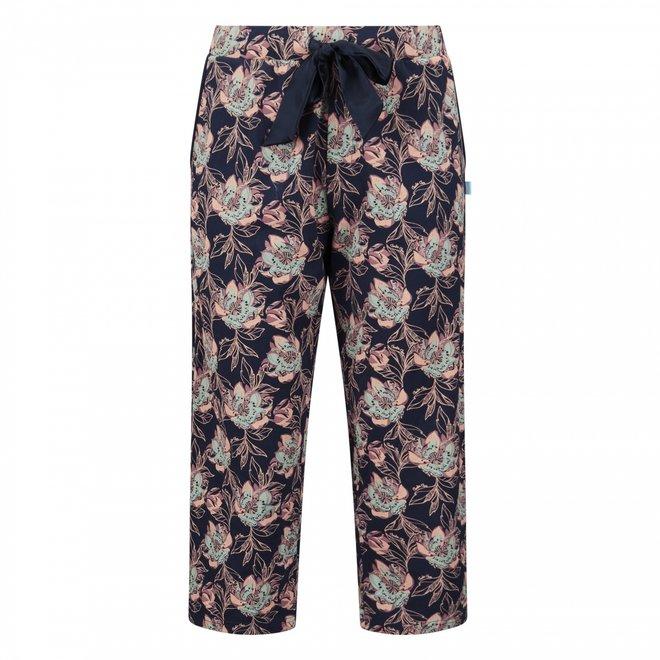 Charlie Choe Damen 3/4 Nacht Shorts Blaue Blume