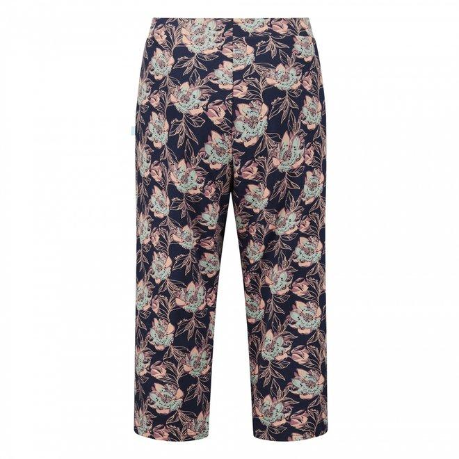 Charlie Choe Dames 3/4 Pyjamabroek Blauw Bloem