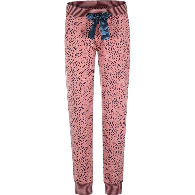 Charlie Choe Dames Pyjamabroek Roze Blauw Panter