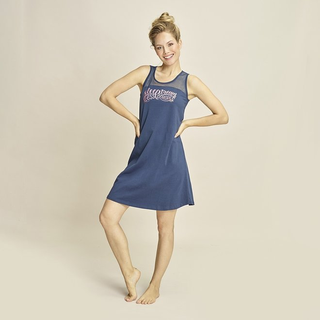 Charlie Choe Damen Nachthemd Blau