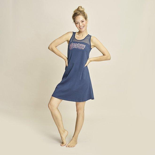 Charlie Choe Ladies Nightshirt Blue