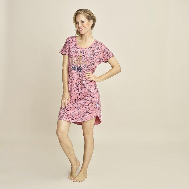 Charlie Choe Dames Nachthemd Roze Blauw Bigshirt Panter
