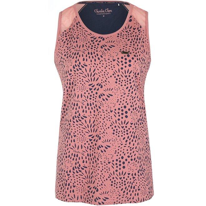 Charlie Choe Ladies Pyjama Tanktop Pink Blue
